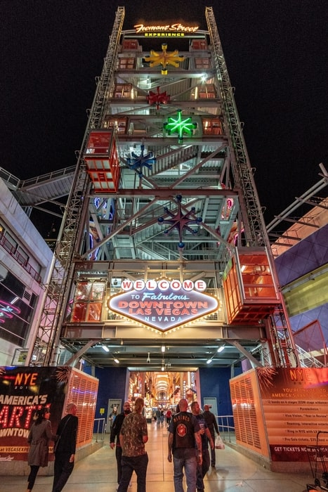 Fremont Street Experience, one of the best tourist attractions in Las Vegas