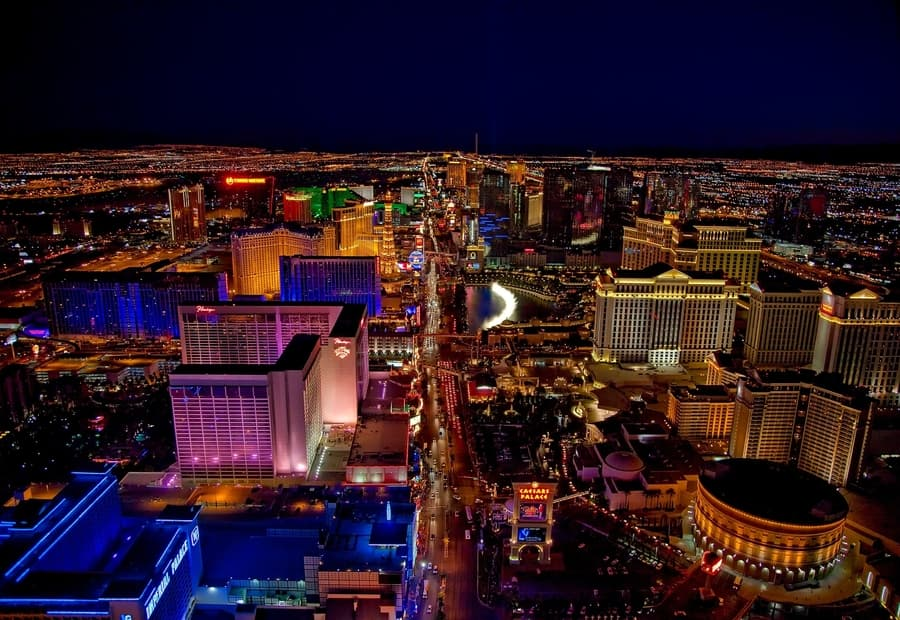 The Strip from the air, Las Vegas strip tours