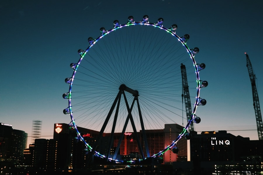 High Roller, best place to visit in Las Vegas at night