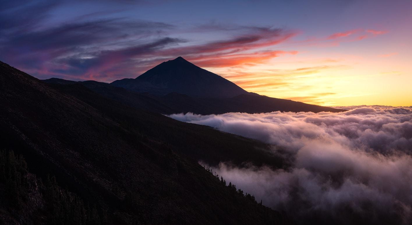 Mejores miradores de Tenerife Islas Canarias mar de nubes teide