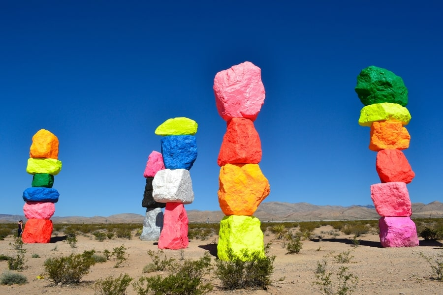 Seven Magic Mountains, a photographed place in Las Vegas