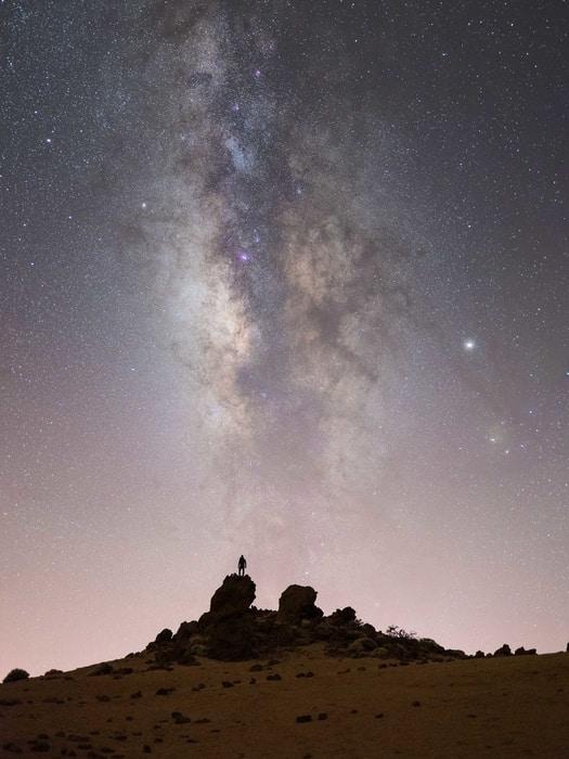 Estrellas y via lactea en Tenerife Islas Canarias
