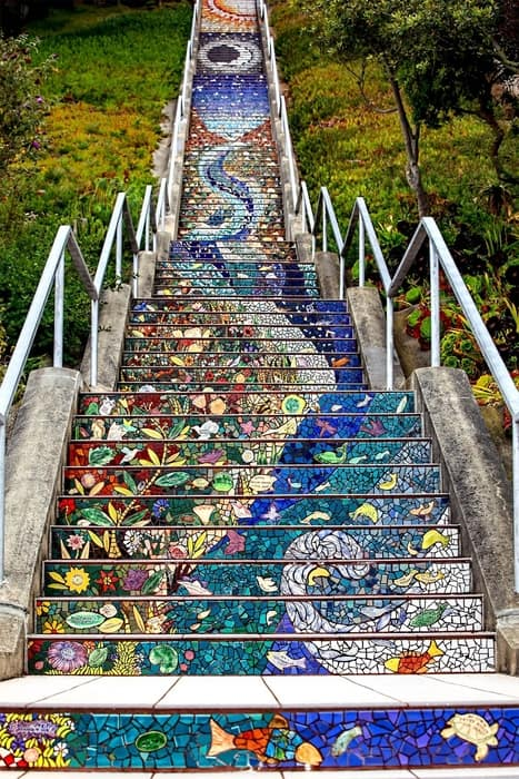 16th Avenue Tiled Steps, something beautiful to visit in San Francisco