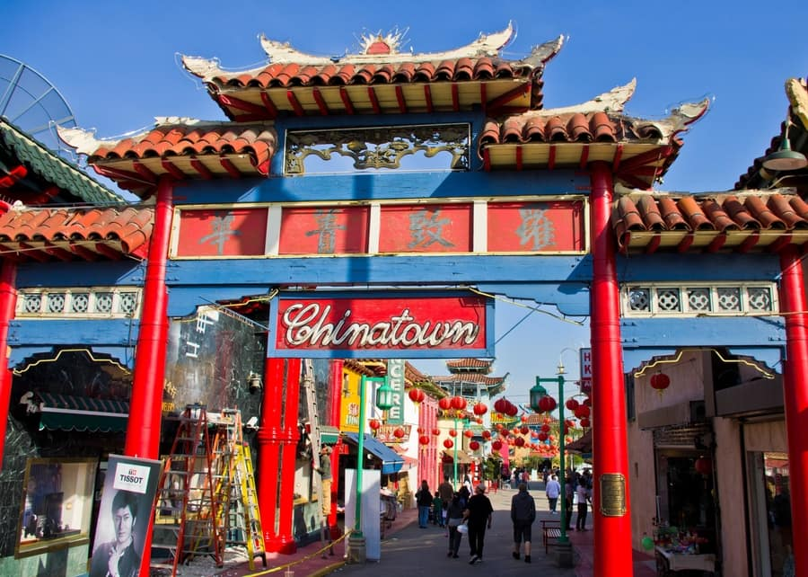 Chinatown, a tourist place to visit in Los Angeles