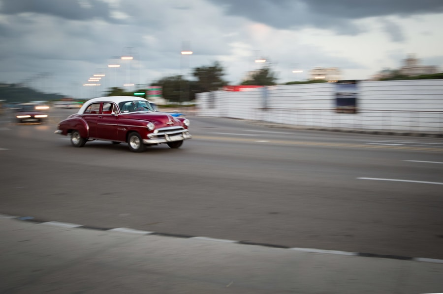 Shutter speed panning cars photography