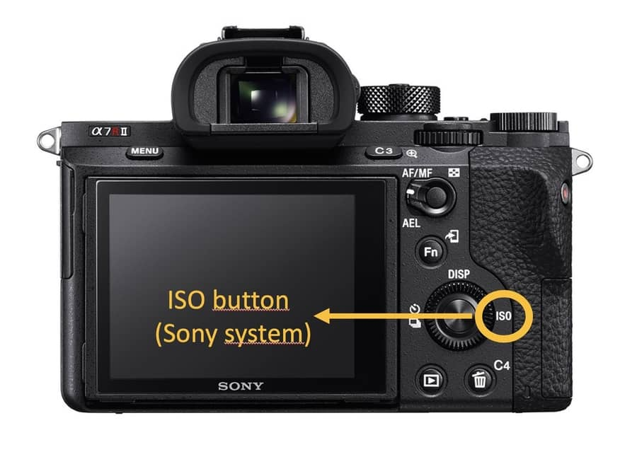 ISO button camera digital photography