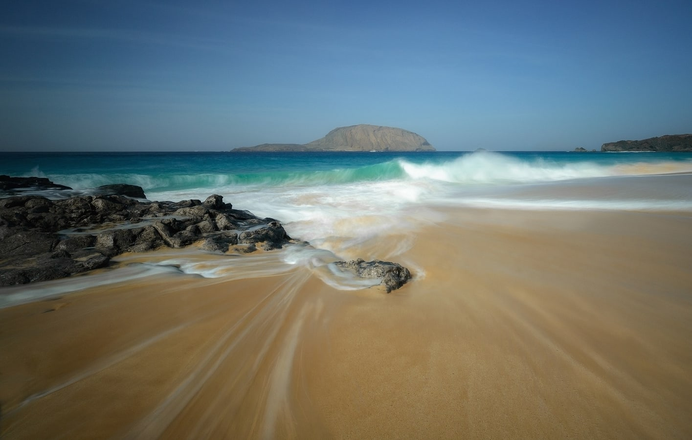 Long exposure photography in beach