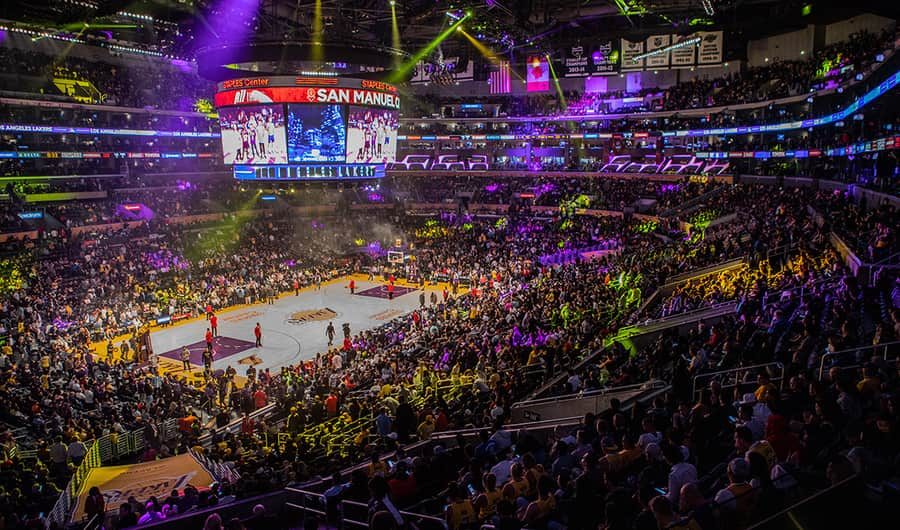 Staples Center, a place to watch NBA matches in Los Angeles