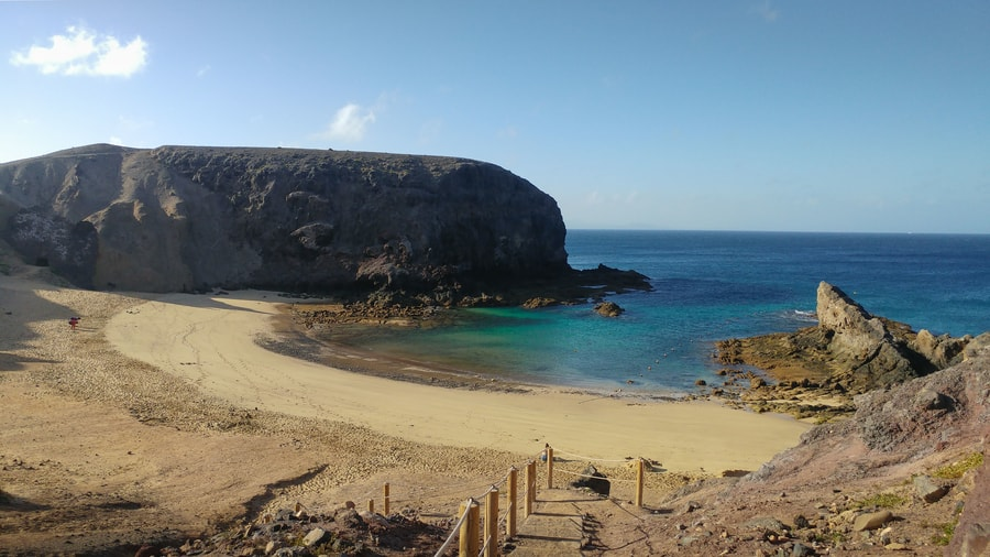 Papagayo Beach, one of the best beaches to visit in Lanzarote