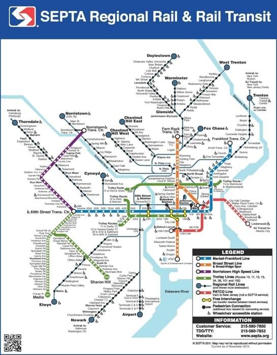 Philadelphia train map