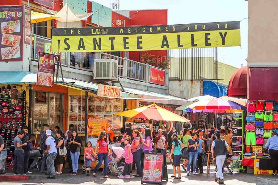 Santee Alley, the cheapest stores in Los Angeles California