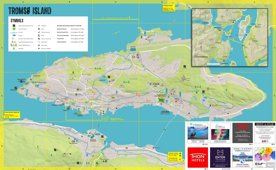 Tromso tourist attractions map