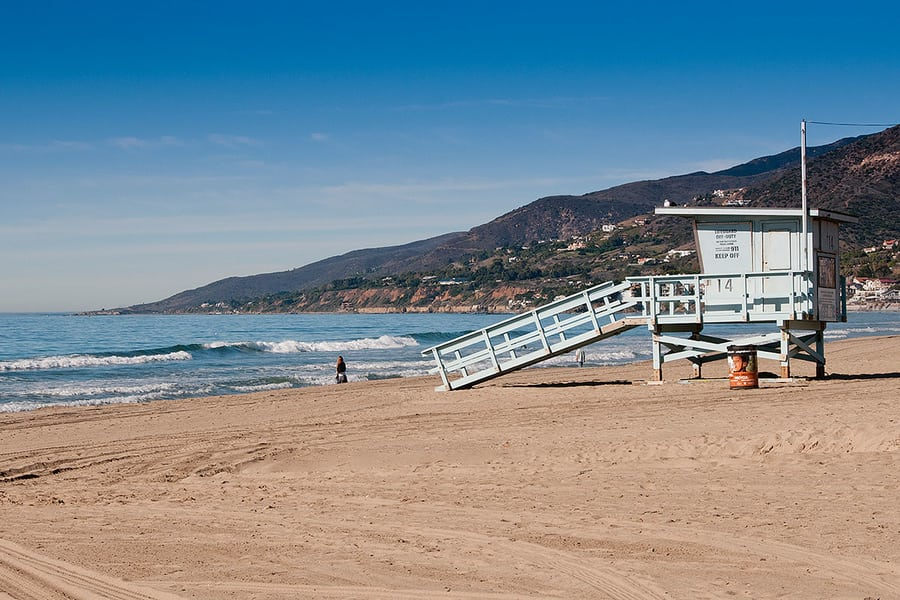 Zuma Beach, a popular beach in Los Angeles