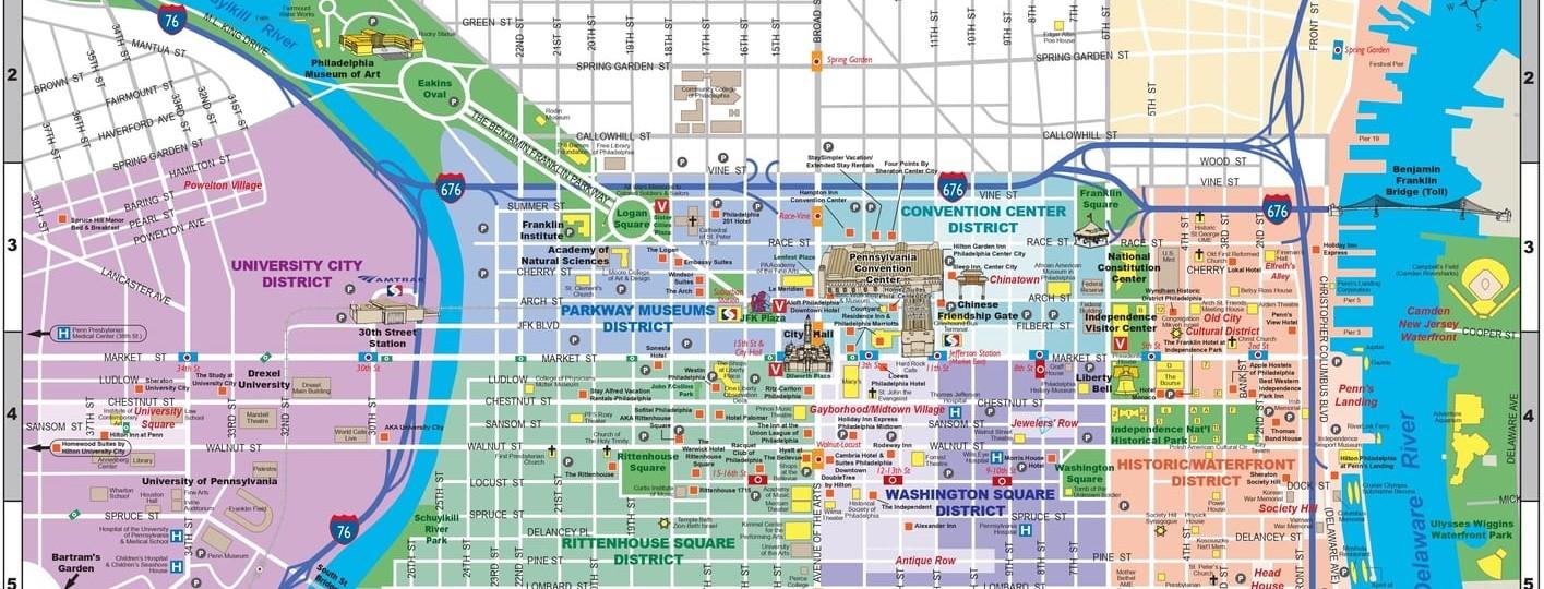 philadelphia tourist map