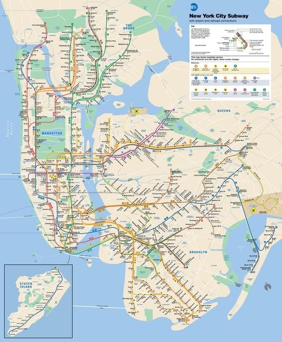 New York Mapa Turistico.Mapas De Nueva York Imprescindibles Para Tu Viaje A Nyc