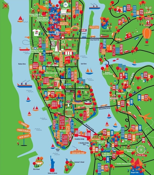 New York Maps The Tourist Maps Of Nyc To Plan Your Trip