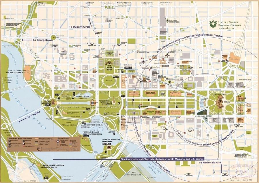 The street map of Washington D.C.
