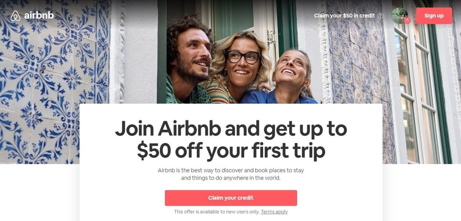 Airbnb coupon first time