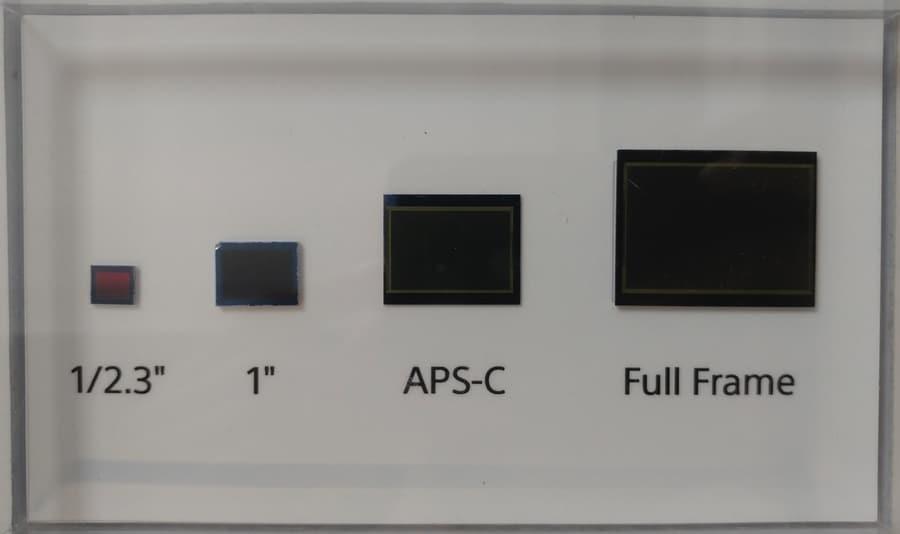 different sensor size in cameras