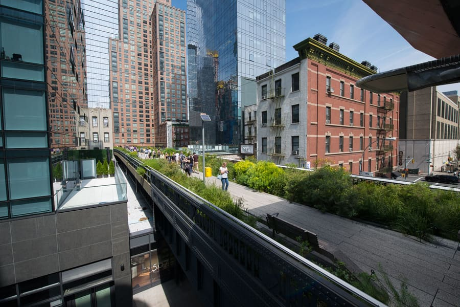 High Line, cool places in NYC