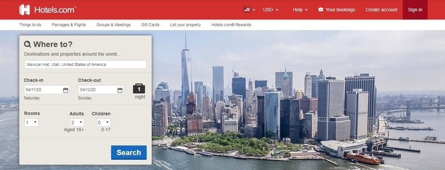 Use the same booking site to get the best hotel deals