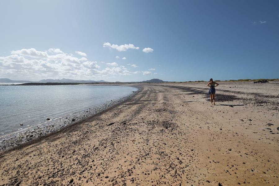 La Concha, a beach to visit in Isla de Lobos, Fuerteventura