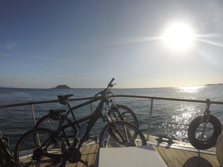 Cycling around Lobos Island, Fuerteventura