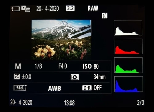Histograma RGB en fotografia para que se usa
