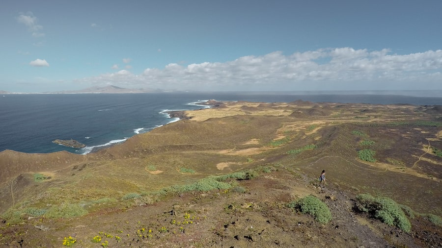 Hiking in Lobos Island, Canary Islands