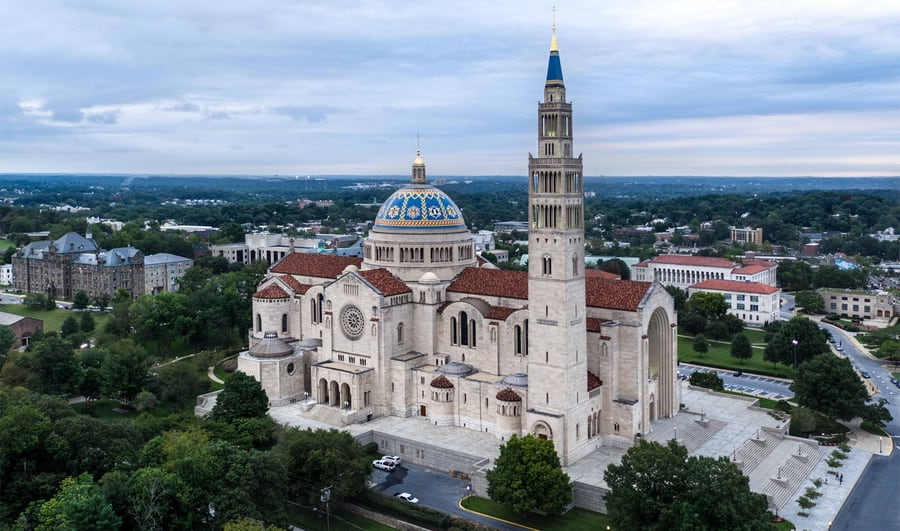 Basilica of the National Shrine of the Immaculate Conception in Washington, USA