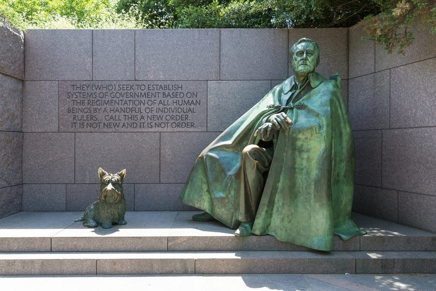 Franklin Delano Roosevelt Memorial, historical things to do in Washington DC