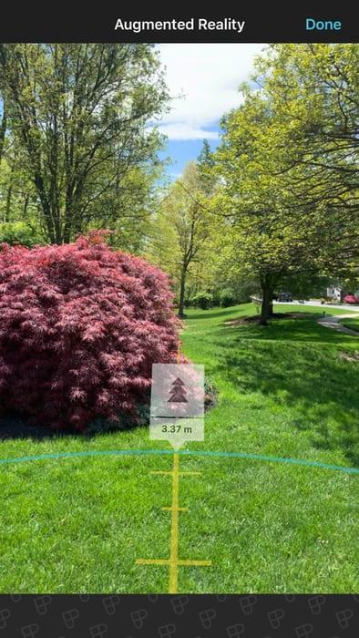 Hyperfocal distance augmented reality mode Photopills