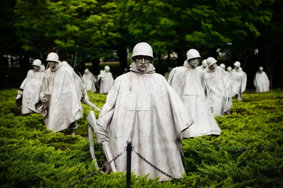 Korean War Veterans Memorial in Washington D.C., USA
