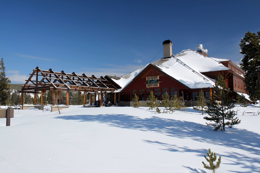 Old Faithful Snow Lodge, where to stay in Yellowstone in winter