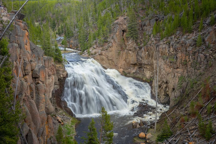 Gibbon Falls, a tourist place to visit in Yellowstone