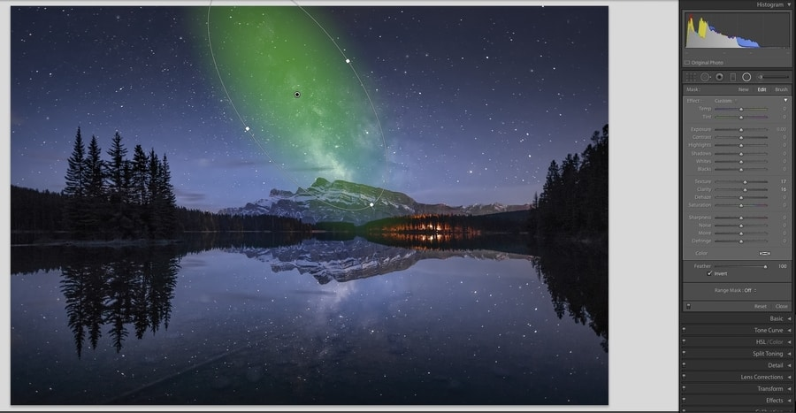 Milky Way editing in Lightroom