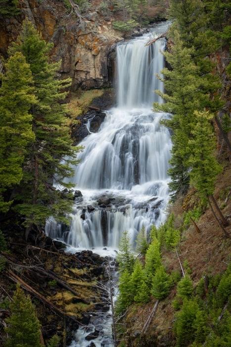 Undine Falls, unas cascadas donde ir en Yellowstone
