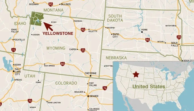 Where is Yellowstone in the United States?