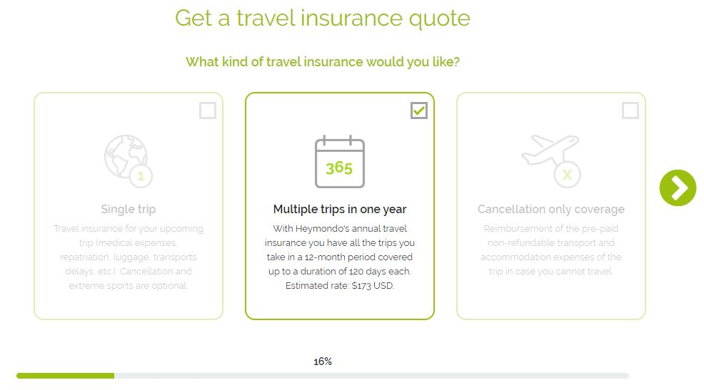annual multitrip travel insurance how to get a quote