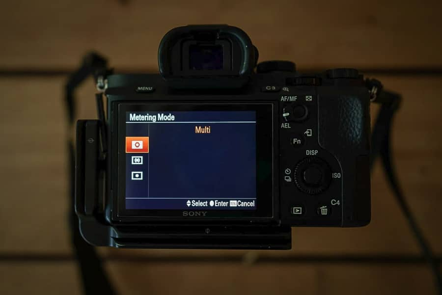 How to change the metering mode in photography