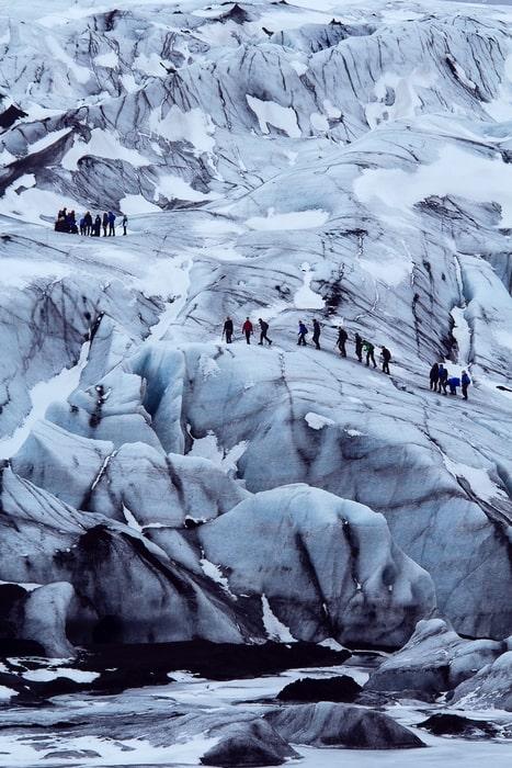 Caminar sobre glaciares, visitar la costa sur desde Reykjavík