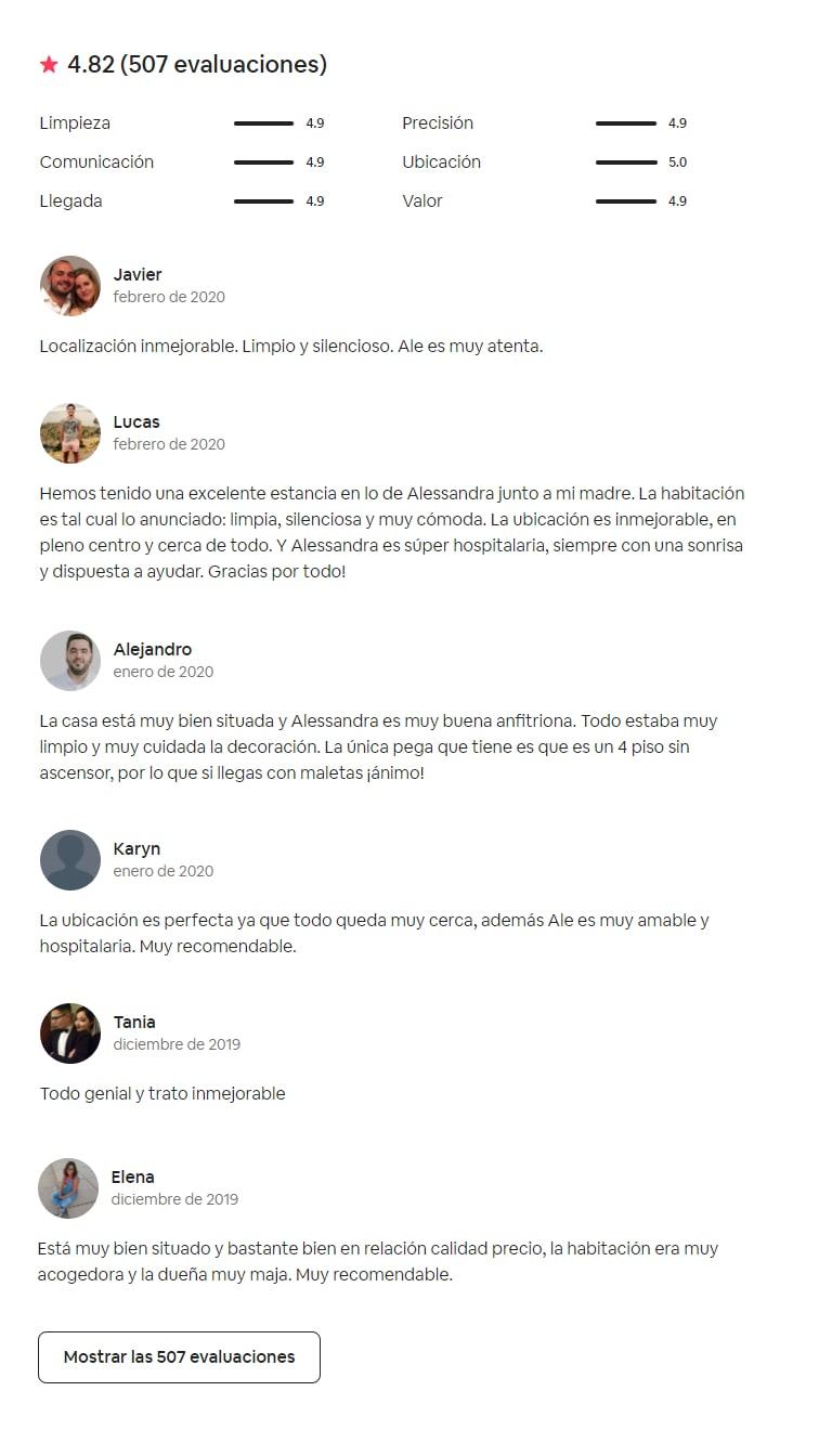 Evaluaciones Airbnb cupon de descuento