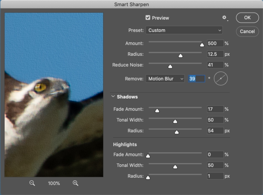 Fixing out of focus images in photoshop