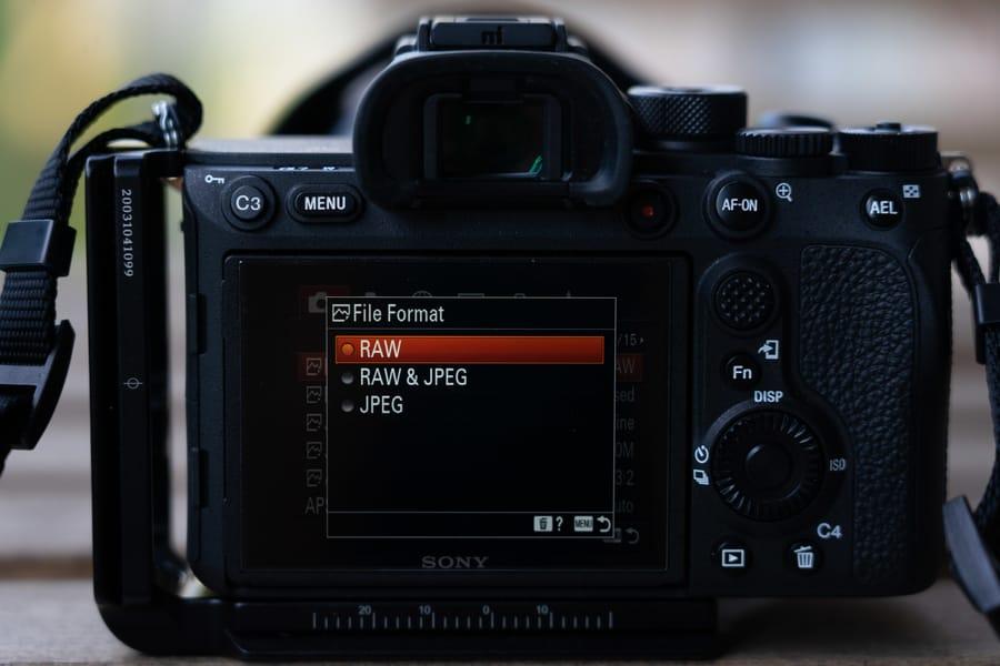 File format photo setting