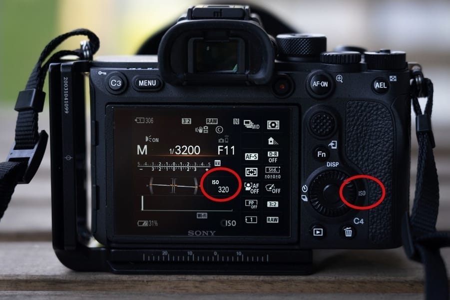ISO photography setting on camera