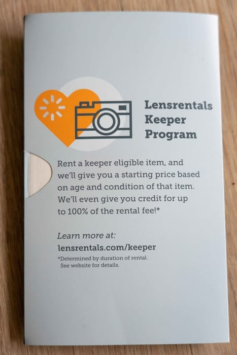 Lensrentals keeper program worth it