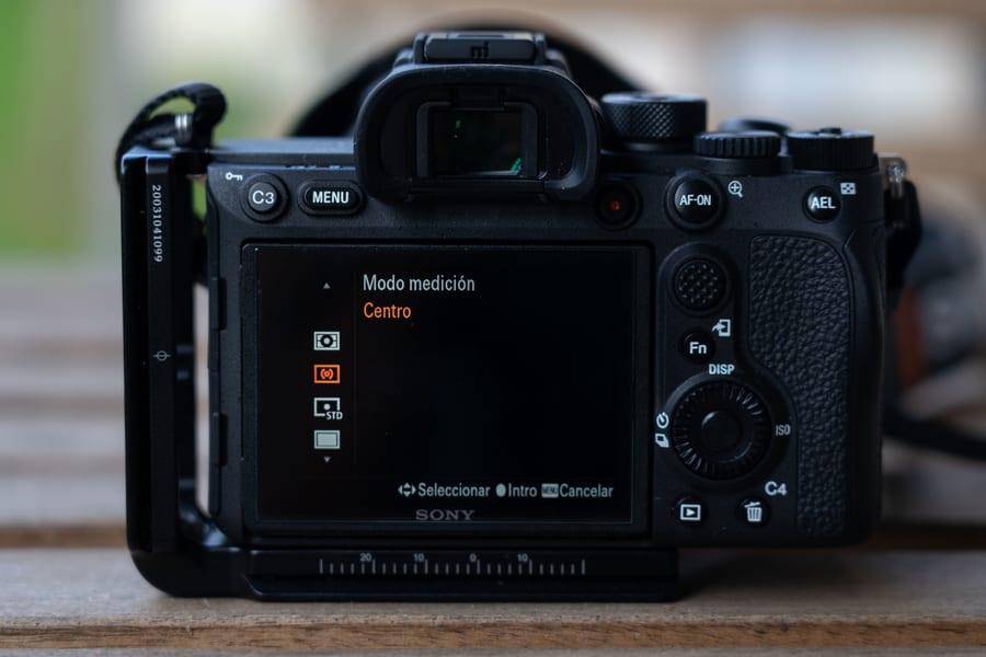 Ajuste de modos de medición en la cámara