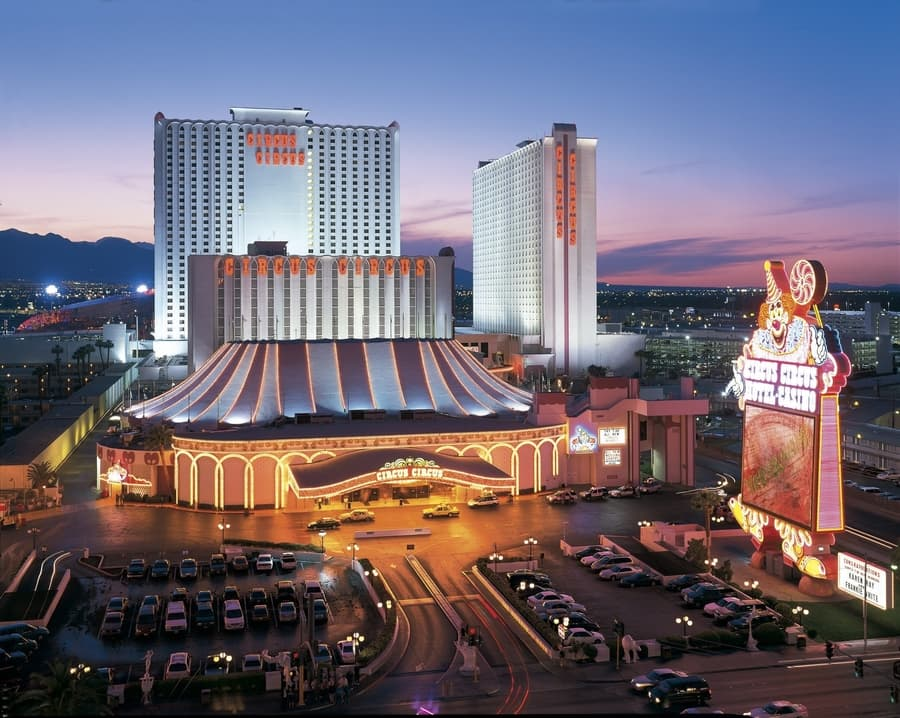 Circus Circus, a hotel in Las Vegas for families