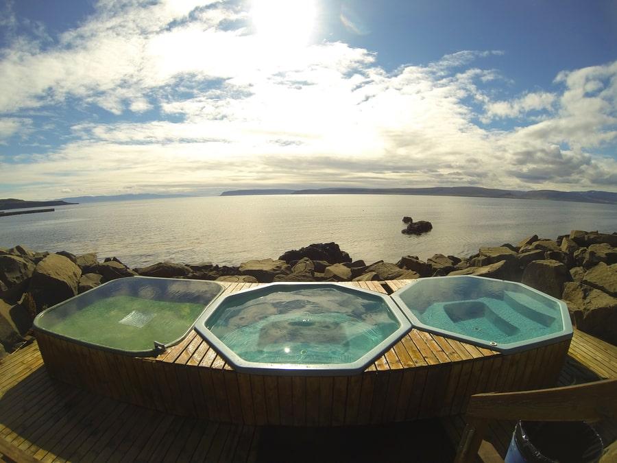 Drangsnes Hot Pots, geothermal pools Iceland