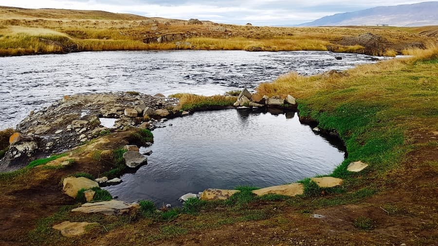 Fosslaug, hot springs Iceland free
